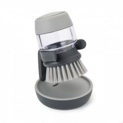 Perie pentru vase cu recipient pentru detergent integrat Palm scrub grey-850055