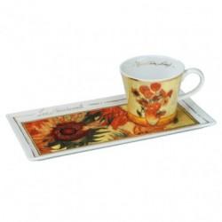 Ceasca pentru cafea cu farfurie Sunflowers Vincent van Gogh, cod 276200