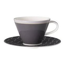 Ceasca cappuccino cu farfurie Caffe Club Uni Steam, cod 176164/176157