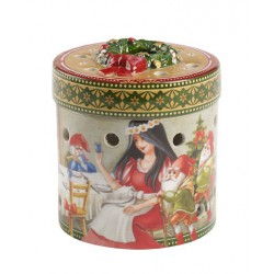 Suport lumanare Christmas toys gift box snow white