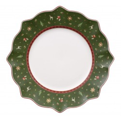 Farfurie intinsa Toy's delight flat plate green, cod 494032