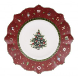 Farfurie aperitiv Toy delight salad plate red, cod 490485