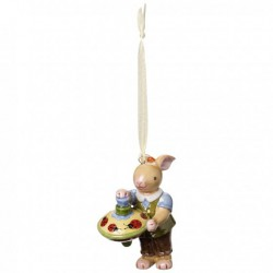 Decoratiune Spring Decoration Bunny boy with spinning top