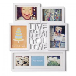 Set rame foto Motto white