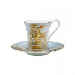 Ceasca espresso cu farfurie Ex Libris-265648