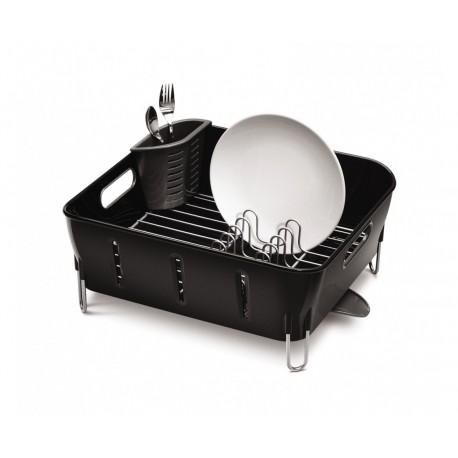 Scurgator plastic pentru vase Compact negru