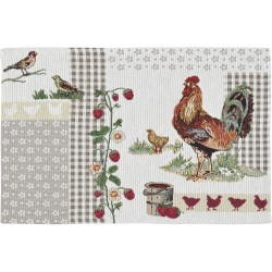 Placemat individual gobelin Rooster patch 32x48
