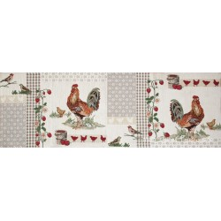 Traversa masa gobelin Rooster patch 32x96