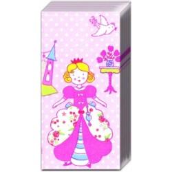 Servetele buzunar Pink princess 20 buc