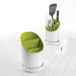 Suport organizator chiuveta Dock white/green