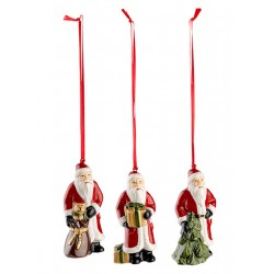 Set 3 decoratiuni brad Nostalgic ornaments Santa