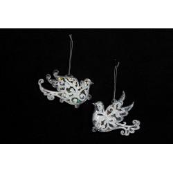Decoratiune argintie - Vrabiuta