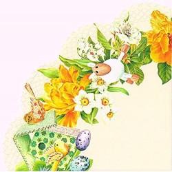 Servetele Daffodil wreath rondo napkins R 538560