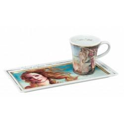 Ceasca espresso cu farfurie The Birth of Venus