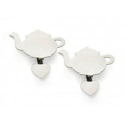 Set 2 suporti plicuri ceai sub forma de ceainic