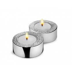 Set 2 suporti pentru lumanare- Silver Diamond