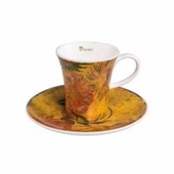 Cescuta cu farfuriuta espresso- Sunflowers