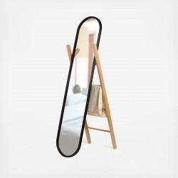 Oglinda cu suport din lemn- Hub Floor mirror