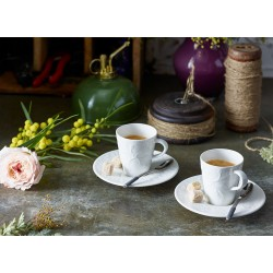 Cescuta cu farfuriuta espresso Floral Touch