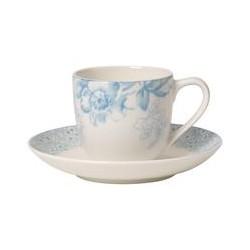 Ceasca espresso plus farfuriuta- Floreana Blue