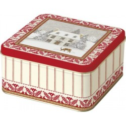 Cutie biscuiti cookie tin cosy home red