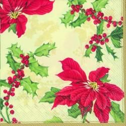 Servetele de masa Floral christmas cream