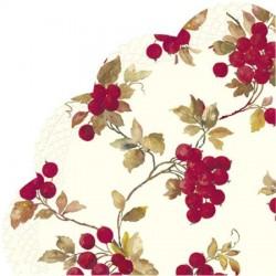 Servetele de masa rondo Red berries cream