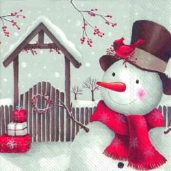 Servetele de masa Smiling snowman