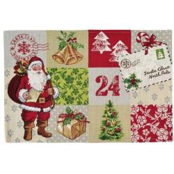 Placemat individual Santa Claus 32x48 cm