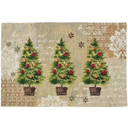 Placemat individual X-mas tree 32x48 cm
