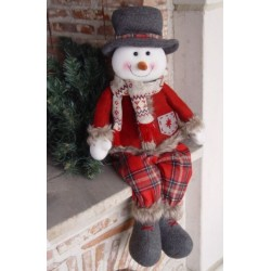 Decoratiune plus Sitting snowman SUN-86242