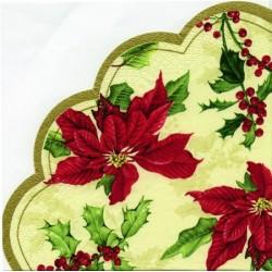 Servetele Floral Christmas Cream R24060