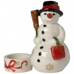 Suport lumanare Christmas Light- Snowman Votive
