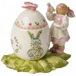 Decoratiune paste Box easter egg bunny girl