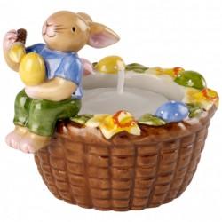 Decoratiune paste suport lumanare Bunny family basket light