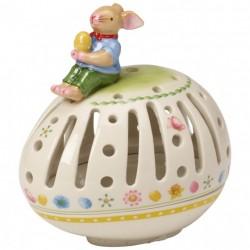 Suport lumanare paste Bunny family tea light hold. egg horizontal