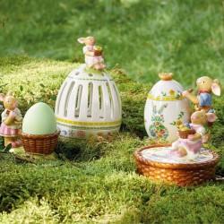 Suport lumanare paste Bunny family tea light holder egg