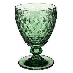 Pahar cristal vin alb Boston green