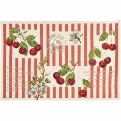 Placemat individual gobelin 32x48 cm Cherries