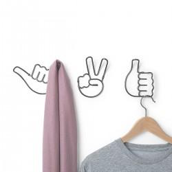 Set 3 cuiere cu emoticoane- Handy hooks