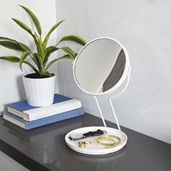 Oglinda pentru machiaj cu suport pentru bijuterii