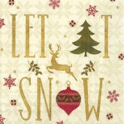 Servetele Let In Snow On Christmas L753560