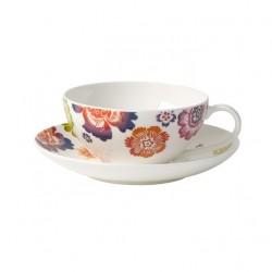 Set ceasca pentru ceai si farfurie Anmut Bloom-Villeroy&Boch portelan premium bone
