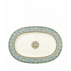 Platou oval Samarkand Aquamarin