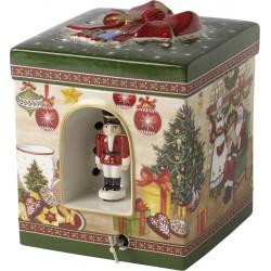 Cutie muzicala gift box large, Santa's home,Christmas Toys, portelan