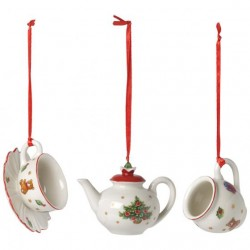SET 3 DECORATIUNI NOSTALGIC ORNAMENTS COFFEESET 3PCS