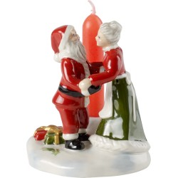 Decoratiune cu lumanare Mr and Mrs Santa North pole express
