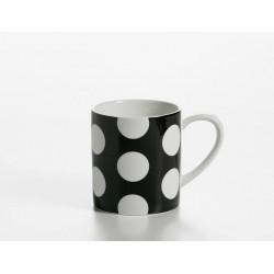 Cana ceai mug black portelan