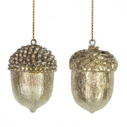 Ghinde - Gold resin acorn