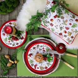 Placemat rotund X-mas Ornaments- Sander